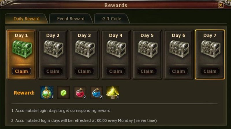 BF - Daily Rewards