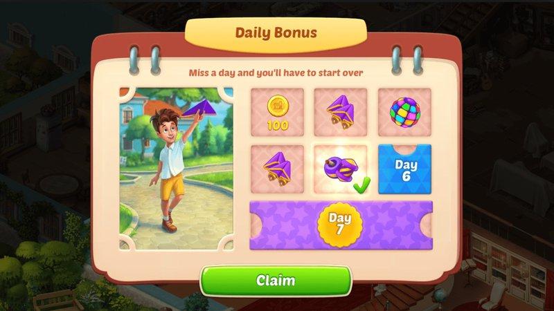Homescapes MOD APK - Daily Bonus