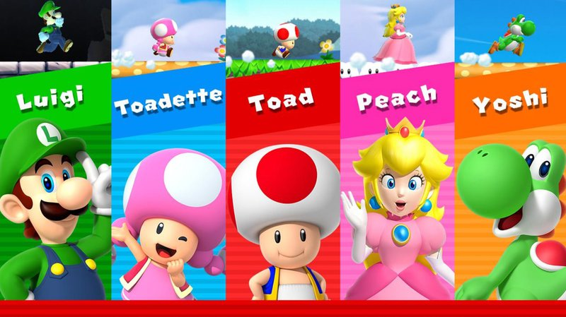 Super Mario Run - Characters