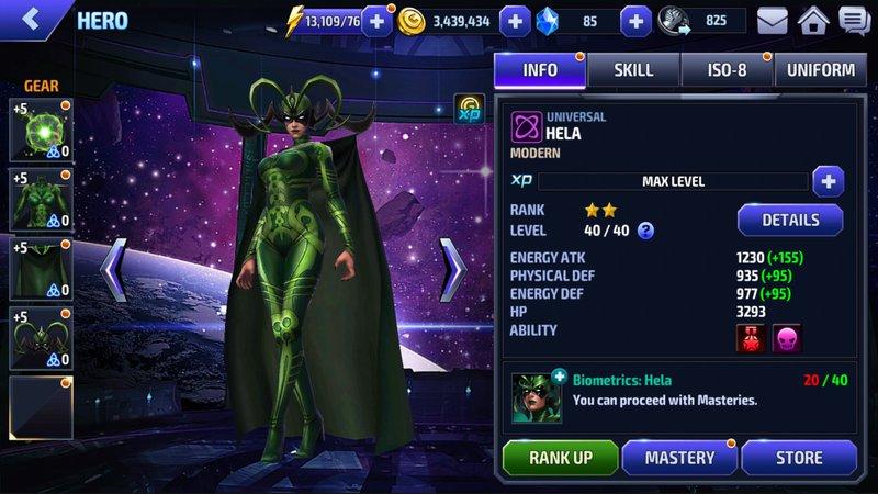 Marvel Hero Stats